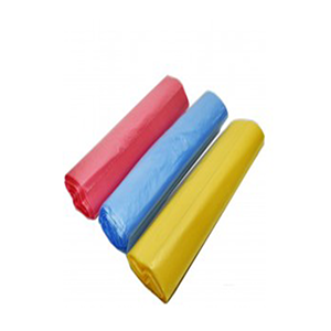 Фасовочные пакеты, ПНД 24х37 см 5 рулончиков (арт 10085 цветные)