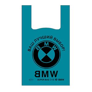 Пакет майка, 43*64/69 см, 22-40 мкм, цветная/с логотипом