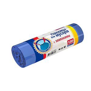 Мешки для мусора 100л. с завязкой, ПВД, 10шт. в рулоне, EXTRA, 25 мкм